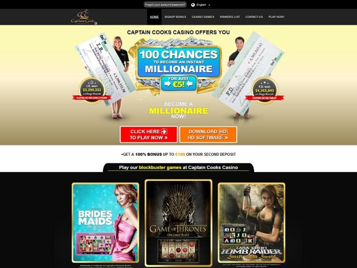 Captain Cooks Casino objective review on LCB