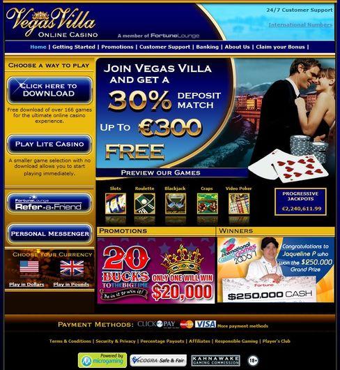 Vegas Villa Casino objective review on LCB