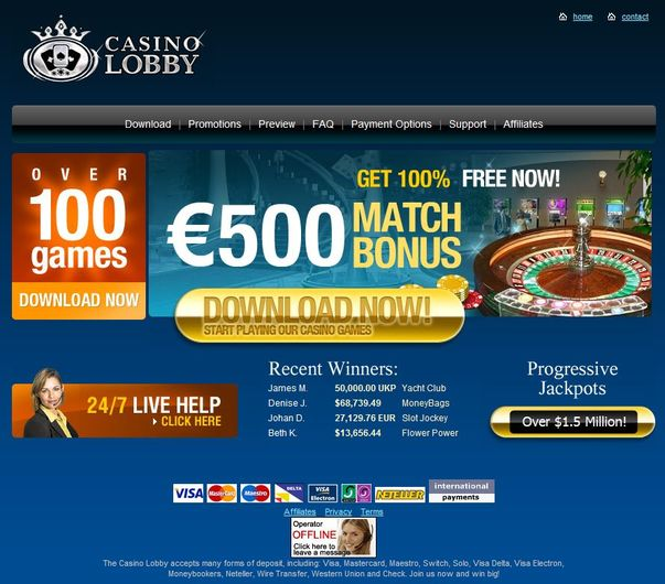 Casino Lobby objective review on LCB