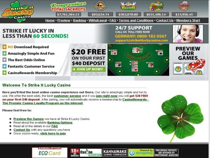 Strike it Lucky Casino objective review on LCB