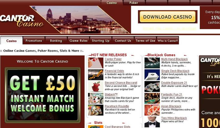 Cantor Casino objective review on LCB