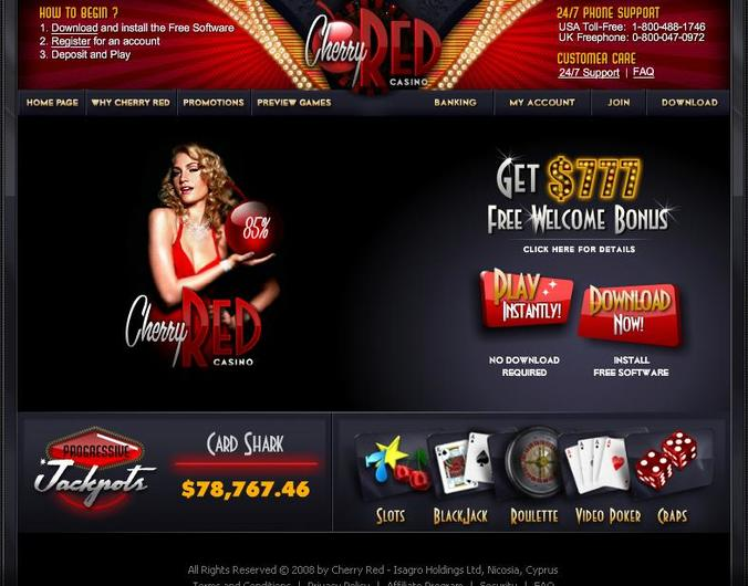 Cherry Red Casino objective review on LCB