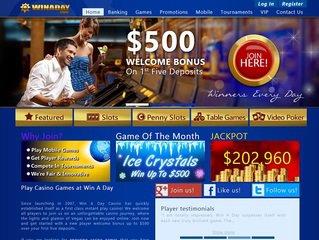 Winaday casino new home