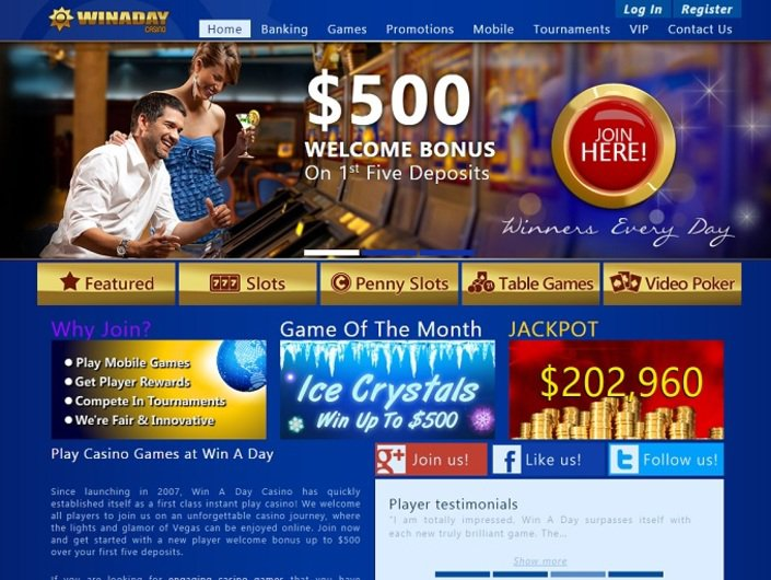 Win A Day Casino objective review on LCB