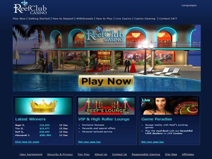 ReefClub Casino objective review on LCB