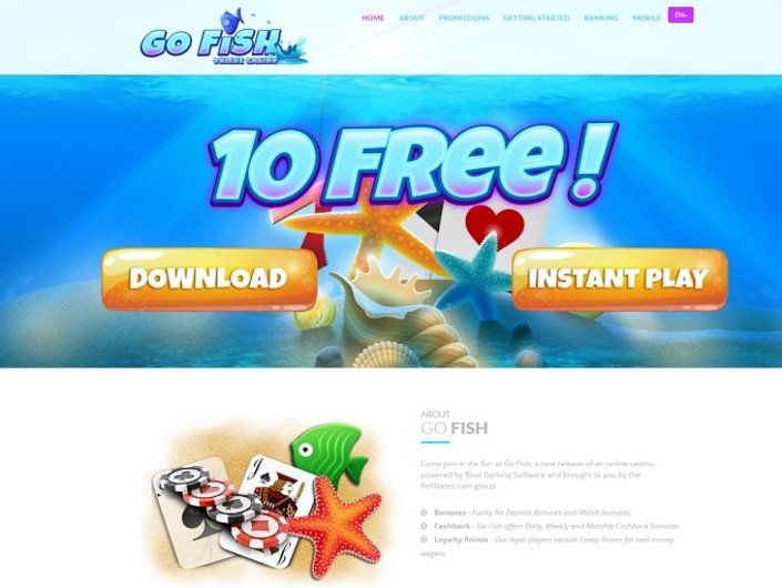 GoFish Casino objective review on LCB