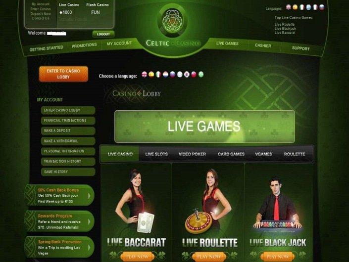Celtic казино казино вулкан партнерская программа