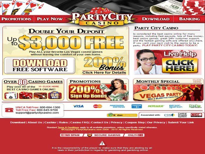 Party City Casino objective review on LCB