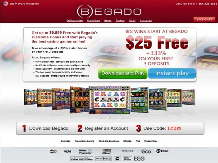 Begado Casino objective review on LCB