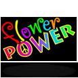 Flower power logo