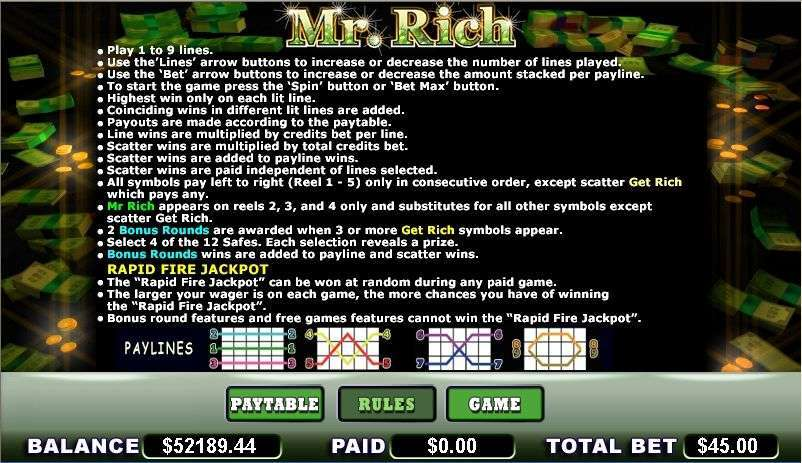 Game Review Mr. Rich