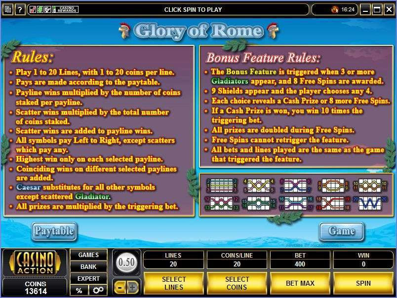 Game Review Glory of Rome