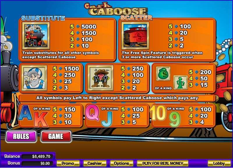 Game Review Cash Caboose