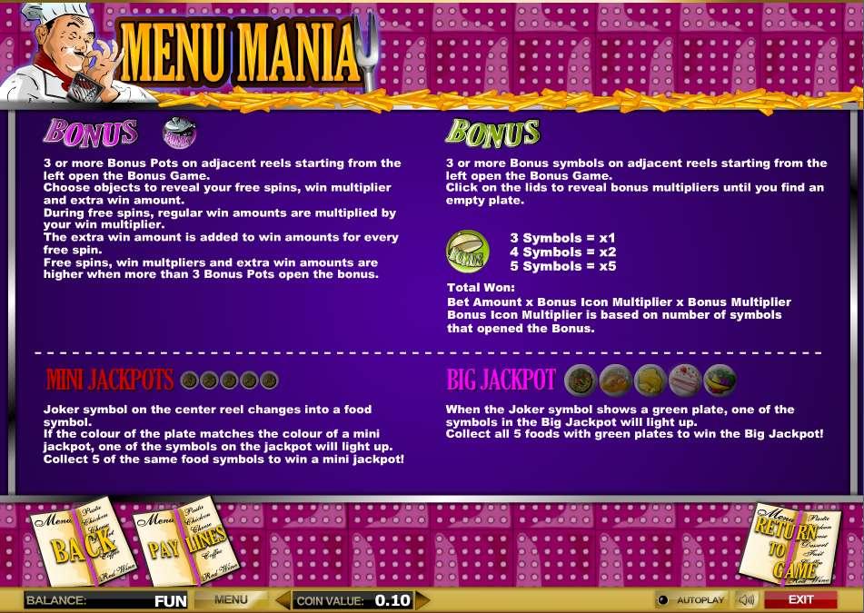 Game Review Menu Mania
