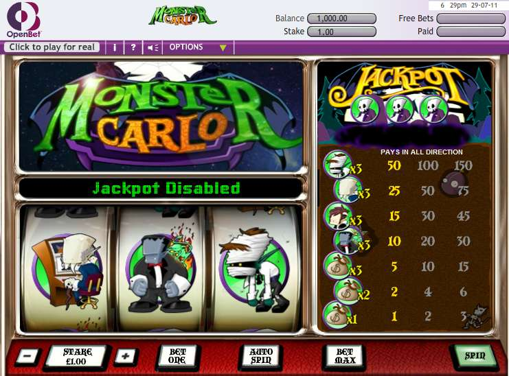 Game Review Monster Carlo