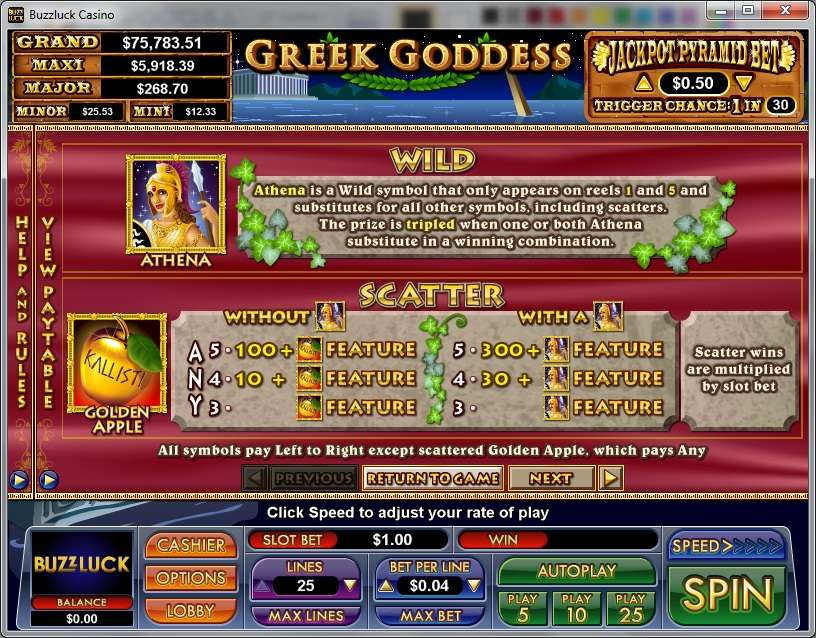 Game Review Greek Goddess