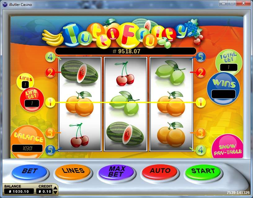 Game Review Tutti Fruity