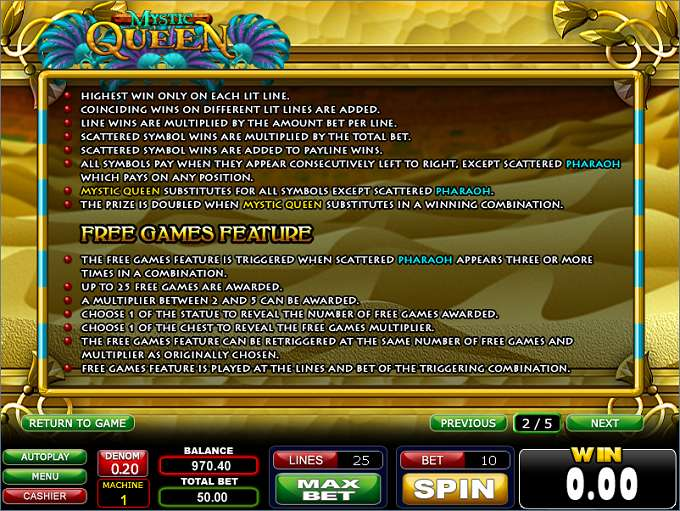 Game Review Mystic Queen