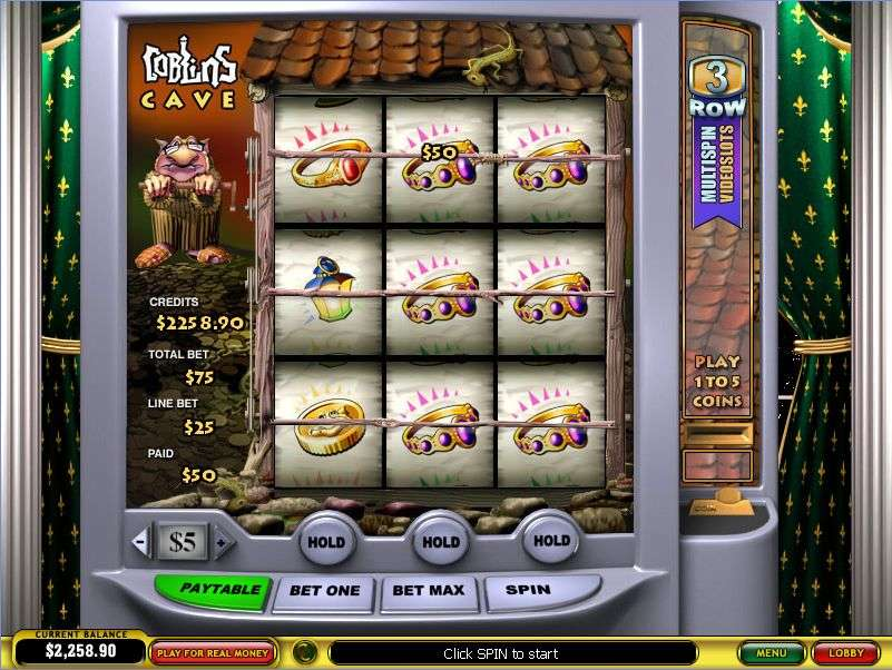 Game Review Goblins Cave Multi-Spin Slot