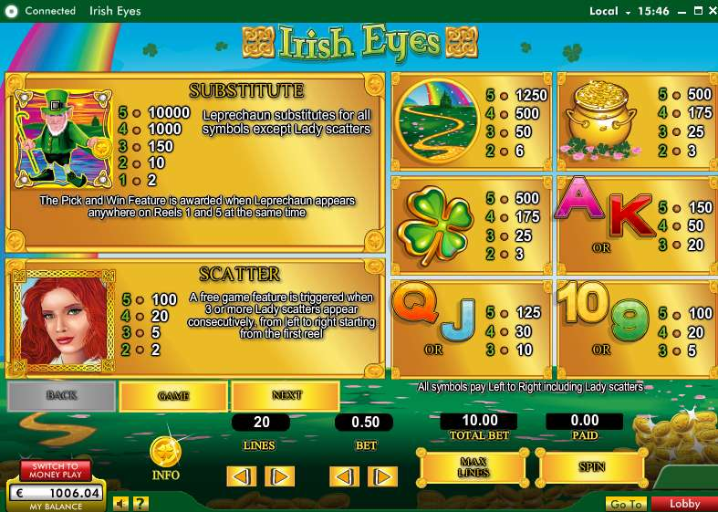 Game Review Irish Eyes