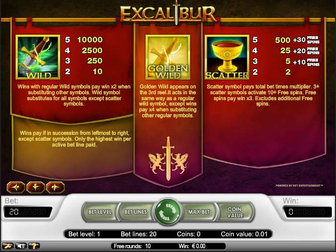 Game Review Excalibur
