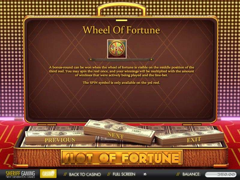 Game Review Slot of Fortune