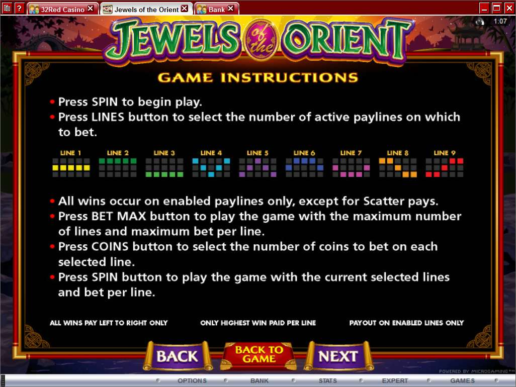 Jewels of the Orient Slot Review & Free Online Demo Game
