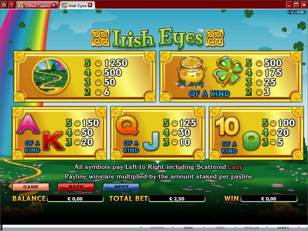 Game Review Irish Eyes