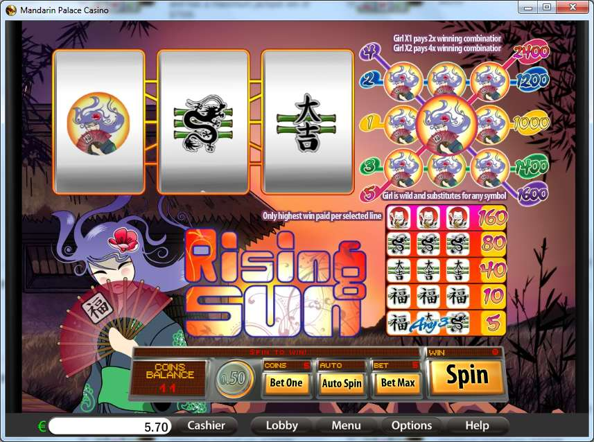 Game Review Rising Sun - 3 Reels