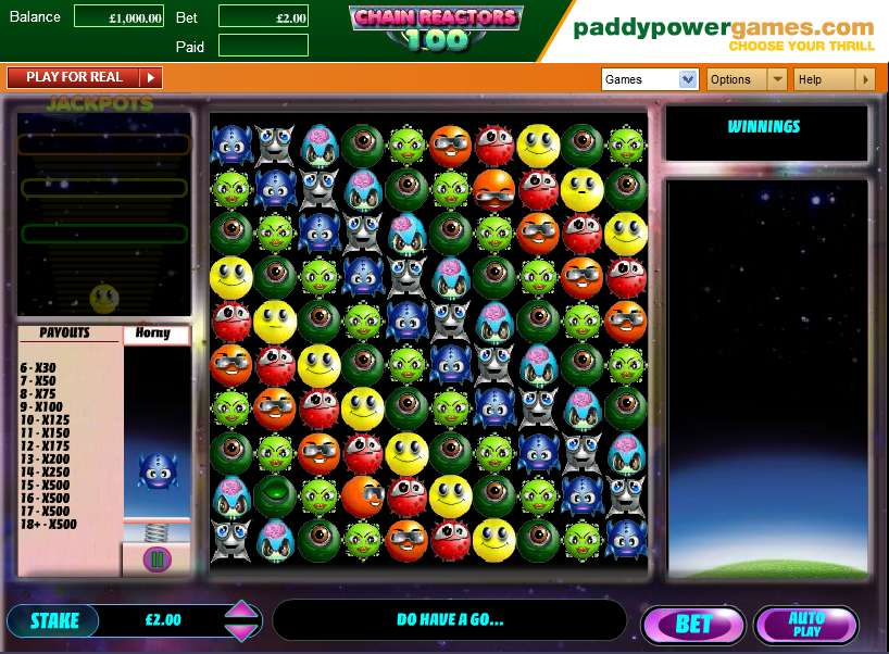 Game Review Chain Reactors 100