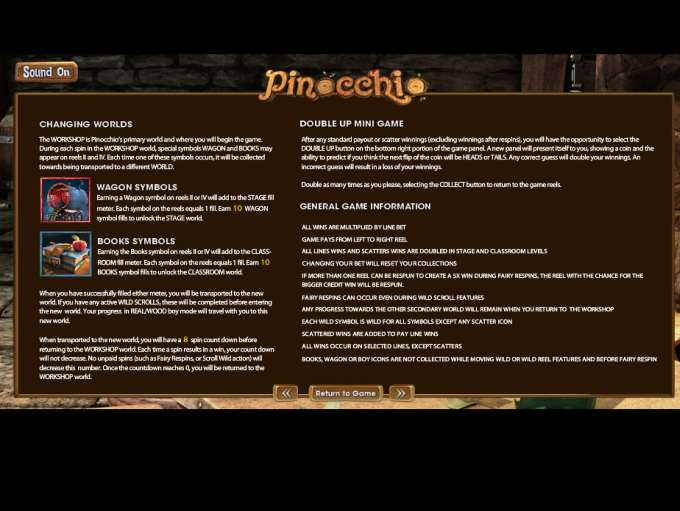 Game Review Pinnochio