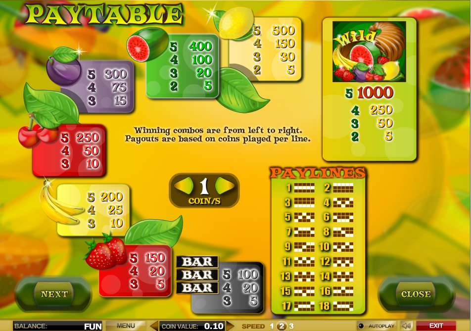 Game Review Fruit Fever