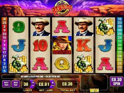 LCB's Blueday Saddles Up a Win on Rawhide Slot