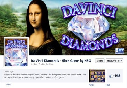 Da Vinci Diamonds Slot Available on Social Networking Site