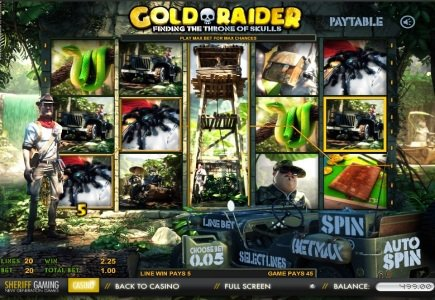 Sheriff Gaming Launches New Slot – Gold Raider