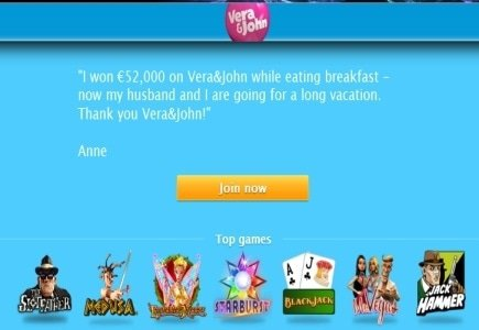 Vera&John Mobile Casino Player Wins Over Euro 11,000 in One Spin!