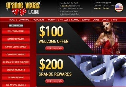 Latest Bonuses and Tourneys from Grande Vegas Casino