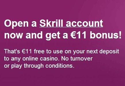LCB Promo: Skrill (Moneybookers) Offers $11 Free Chip to New Members!