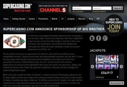 SuperCasino Sponsors Celebrity Big Brother 2013