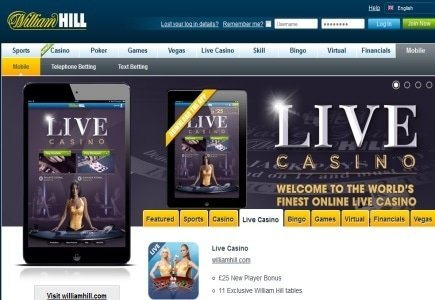 New Live Casino App from Will Hill