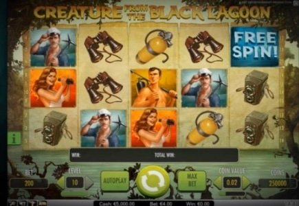 "NetEnt Releases ""Creature from the Black Lagoon"" Slot Game"
