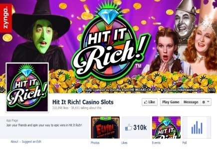 "Zynga Launches ""Hit It Rich!"""