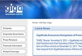 New Board Member for GigaMedia Ltd