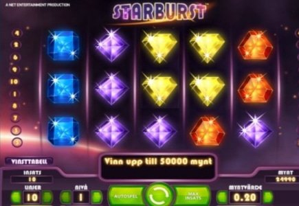 Player Wins €20,000 on Starburst Slot