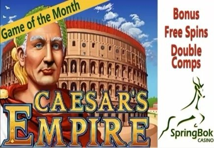 Caesar's Empire: May's Game of the Month at Springbok Casino
