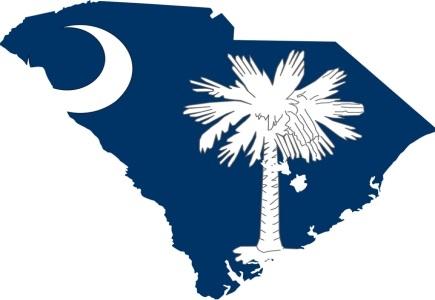 18444 lcb 47k rf  35 south carolina flag map