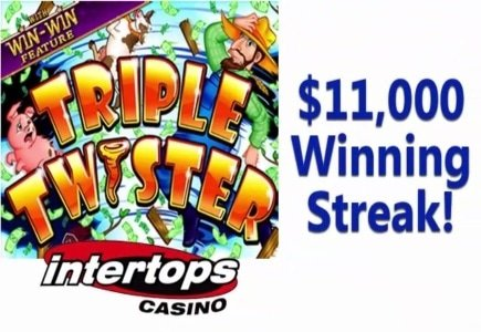 Triple Twister Slot Awards Thousands at Intertops Casino