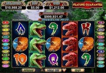 Megasaur Slot Now Featured at Jackpot Capital Casino