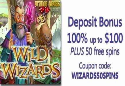 Grande Vegas Casino's 'Wild Wizards' Wows with Bonus Games
