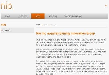 Nio Inc. Acquires Guts.com Parent Company